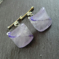 Purple Amethyst Cufflinks, Purple Cufflinks, Gemstone Cufflinks