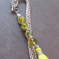 Yellow Agate Dragon Bookmark, Wire Wrapped Bookmark