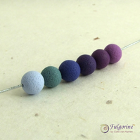 Violet Palette handmade 8mm polymer clay spacer beads