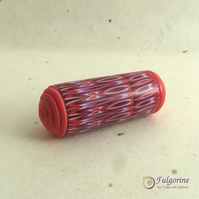 Large red polymer clay focal bead or light pull