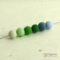 Green palette 8mm polymer clay spacer beads