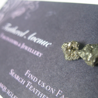 Fools Gold Pyrite Earring Gift Set (silver birthday, present, wedding)