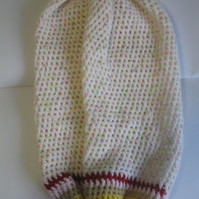 Hand Knitted - Decorative  - Carrier Bag Holder - Kitchen Home Present - Granny