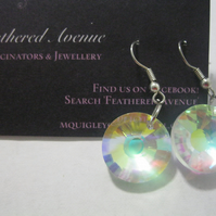Swarovski Crystal Earrings (Gift ladies present silver rhinestone)