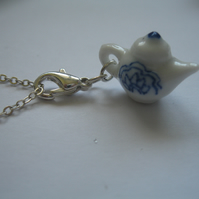 Alice Tea Pot Necklace - chain Gift present girls birthday vintage dolls cup