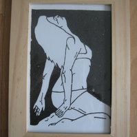 Dream Girl (screen print, original, text, art, poster, girl, anais, erotic)
