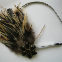 Feather Flower Hairband