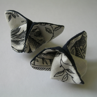 Floral Origami Butterfly Hairclip or Brooch