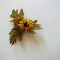 Yellow Sunflower Hairclip