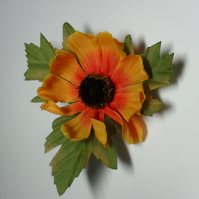 Yellow Floral Hairclip