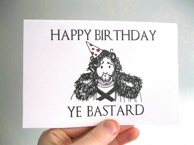 FUNNY BIRTHDAY CARD GAME OF THRONES CARD person Folksy