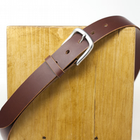 Dark Brown Leather Belt - Traditionally Handmade