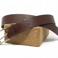 Brown Leather Belt - Traditionally Handmade