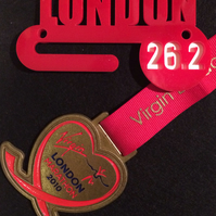 laser cut perspex custom made 'Medal Hanger' ideal for marathons etc.