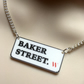 SHERLOCK inspired necklace...BAKER STREET. W  road sign   (Victorian)