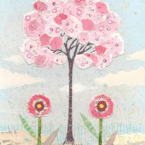 Textile Art - The Candy Floss Tree