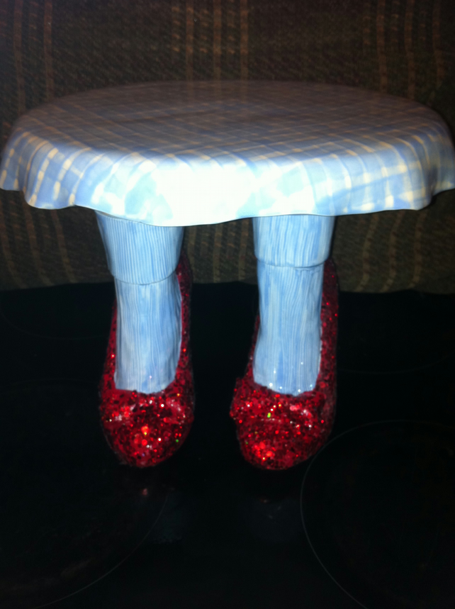 Slipper Stand Designs : Wizard of oz dorothy red ruby slippers cake stand folksy