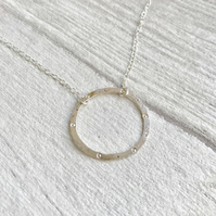 Circle and dot necklace