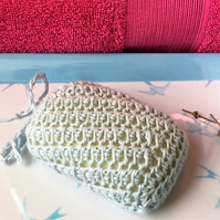 100% Organic Crocheted Soap Pouch Saver