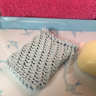 100% Organic Soap Saver Pouch Holder Zero Waste Crocheted GOTS Certified Yarn