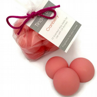 10 Large Cranberry Scented Soya Wax Melts