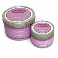 Small Violet Scented Soya Wax Candle (100ml)