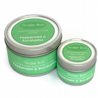 Small Peppermint & Eucalyptus Scented Soya Wax Candle (100ml)