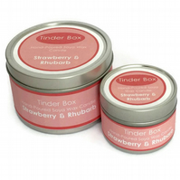 Small Strawberry & Rhubarb Scented Soya Wax Candle (100ml)