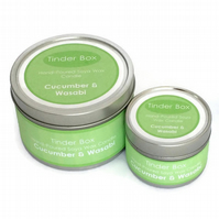 Small Cucumber & Wasabi Scented Soya Wax Candle (100ml)