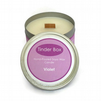Large Violet Scented Soya Wax Candle (250ml)