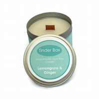 Large Lemongrass & Ginger Scented Soya Wax Candle (250ml)