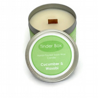 Large Cucumber & Wasabi Scented Soya Wax Candle (250ml)