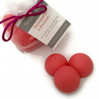 10 Large Strawberry & Rhubarb Scented Soya Wax Melts