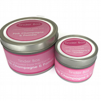 Small Pink Champagne & Pomelo Scented Soya Wax Candle (100ml)