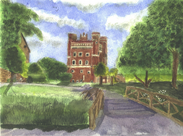 Tattershall Castle watercolour Print