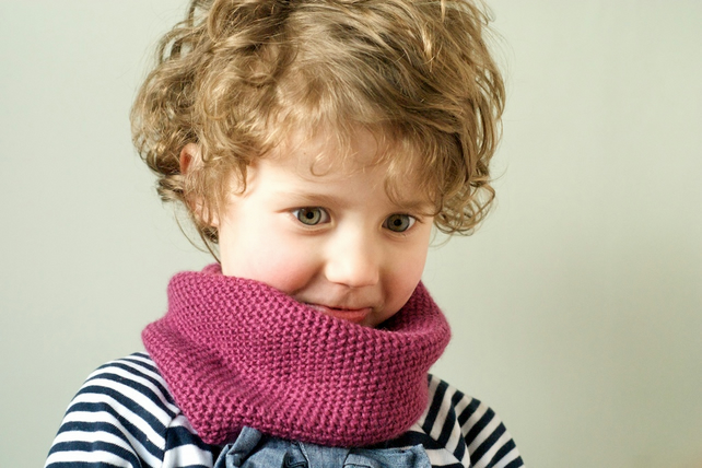 Knitted Cowl Neck Warmer Child Toddler Baby Pin Folksy
