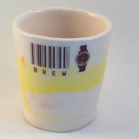 """Brew time"" Espresso ceramic beaker, Cup, Coffee"