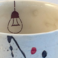 """Light bulb beaker"" Espresso ceramic cup,Coffee,tea light,candle cup."
