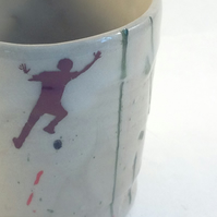 """Climber beaker"" Espresso ceramic cup,Coffee,tea light,candle cup."