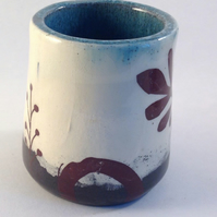 Beaker.Pot.Storage.Candle holder.Espresso. Ceramic.Matisse.