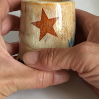 Little star cup.Beaker.Vase.Tea light holder.Handmade.Ceramic.Vase.