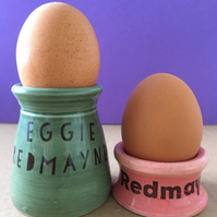 2x Egg cups. Eddie Redmayne. Housewarming Gift. Movie lover. Easter.
