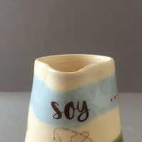 Soy milk. Coy Carp. Pourer. Handmade. Pottery. Colourful ceramics.
