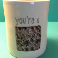 You're a cracker. Pot.Handmade.Gift. Novelty. Valentine.