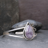 Amethyst and Sterling Silver Cuff.