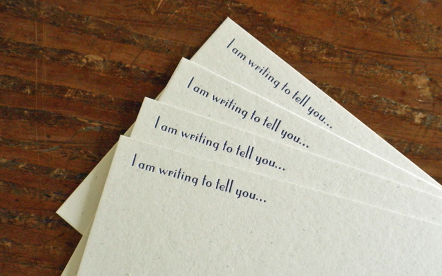 Letterpress Cards from Rack and Ruin on Folksy