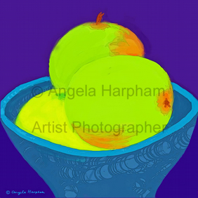 iPad Drawing - Green Apples