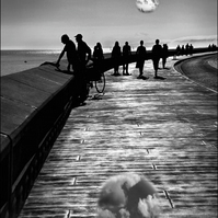 Fine Art Photograph - Promenading Scarborough