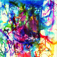 Fine Art Ink Abstract - Glass