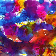 Fine Art Ink Semi Abstract - Celebration